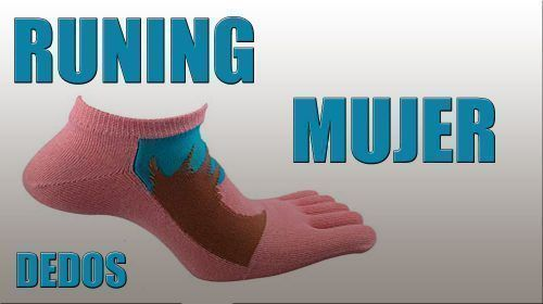 Calcetines dedos running mujer